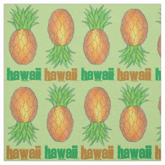 Hawaii Tropical Hawaiian Pineapple Hawaiian Island Fabric