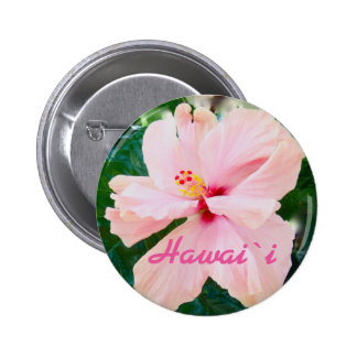 Hawaii Tropical Pink Flower 2 Inch Round Button