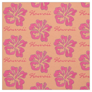 Hawaii Tropical Pink Hibiscus Flower Hawaiian Fabric
