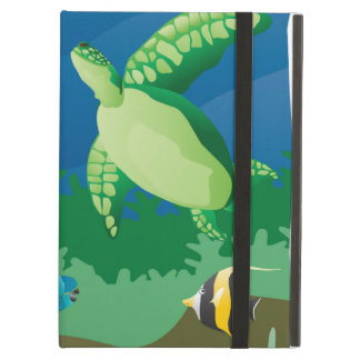 Hawaii Turtle and Tropical Fish iPad Air Cover