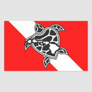 Hawaii Turtle Dive Flag
