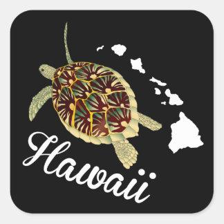 Hawaii Turtle Square Sticker