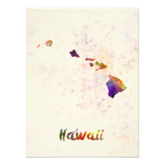 Hawaii U.S. state in watercolor Photograph