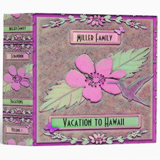 Hawaii Vacation Scrapbook 3 Ring Binder