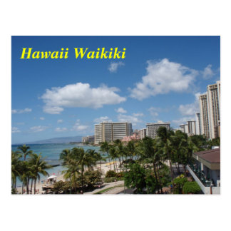 Hawaii Waikiki postcard