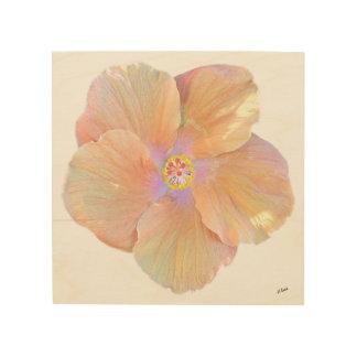 Hawaii Watercolor Hibiscus Flower Wood Wall Art