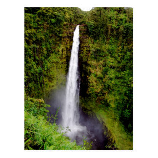 Hawaii Waterfall Akaka Falls Postcard