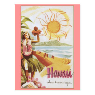 Hawaii - Where Dreams Begin Postcard