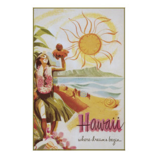 Hawaii - where dreams begin poster
