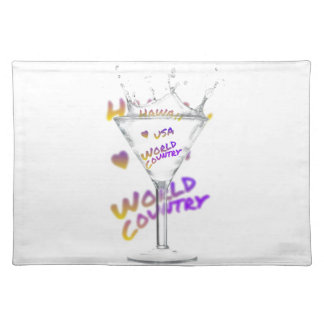 Hawaii world city, Water Glass Placemat