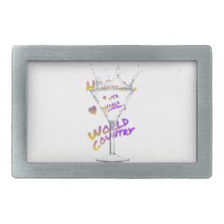 Hawaii world city, Water Glass Rectangular Belt Buckles