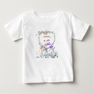 Hawaii world city, Water splash heart Baby T-Shirt