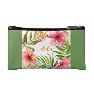 Hawaiian aloha cosmetic bag