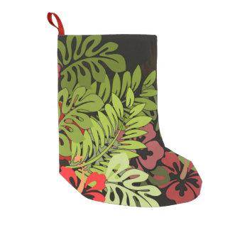 Hawaiian Aloha Floral Hula Art Print Small Christmas Stocking