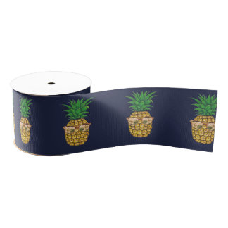 Hawaiian Aloha Luau Birthday Party Grosgrain Ribbon