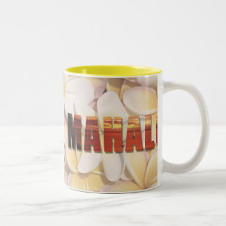 "Hawaiian ""Aloha-Mahalo"" (Welcome & Thank you) Two-Tone Coffee Mug"