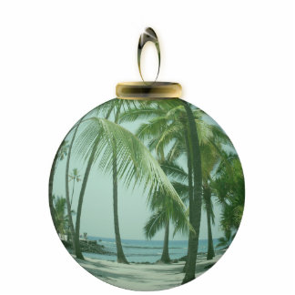 Hawaiian Beach Ornament Photo Sculpture Ornament
