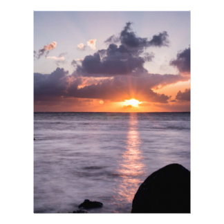 Hawaiian Beach Sunrise Letterhead