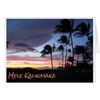 Hawaiian Christmas Card