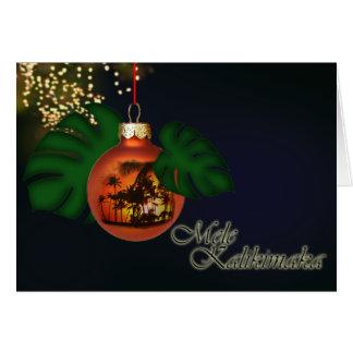 Hawaiian Christmas Card