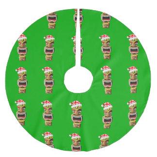 Hawaiian Christmas Santa Tiki Brushed Polyester Tree Skirt