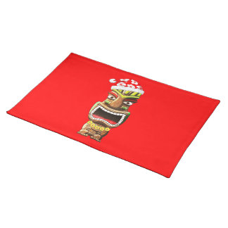 Hawaiian Christmas Santa Tiki Placemat