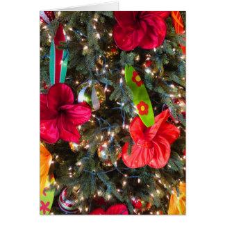Hawaiian Christmas Tree Card