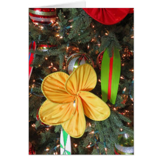 Hawaiian Christmas Tree Card
