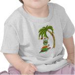 Hawaiian Christmas Turtle Santas Tee Shirt