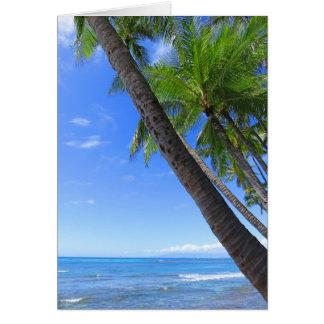 Hawaiian Coconut Palms Card