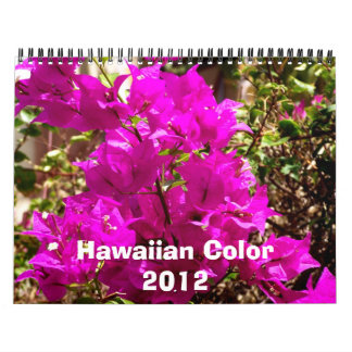 Hawaiian Color 2012 Calendar