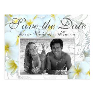 Hawaiian Destination Wedding Save the Date Cards