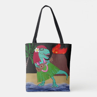 Hawaiian Dinosaur Tote Bag