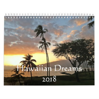 Hawaiian Dreams 2018 Calendar