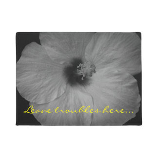 Hawaiian Dreams in Black and White Doormat