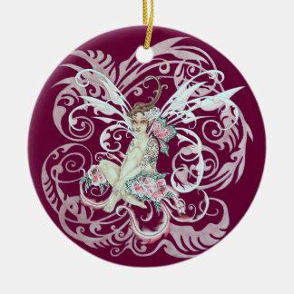 Hawaiian Faery Round Ceramic Ornament