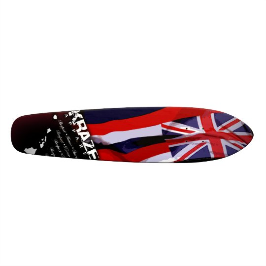 Hawaiian Flag 2 Custom Skate Board
