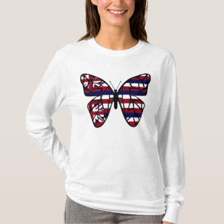 Hawaiian flag butterfly shirt