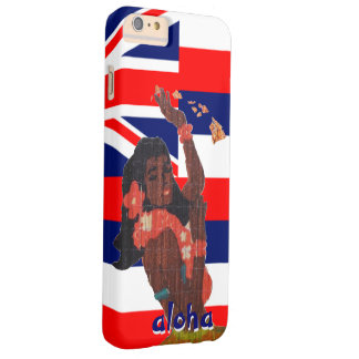 Hawaiian Flag Hula Girl Barely There iPhone 6 Plus Case
