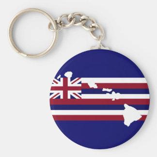 Hawaiian flag n islands Key chain