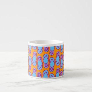 Hawaiian Flip Flops in Blue & Orange Espresso Mug