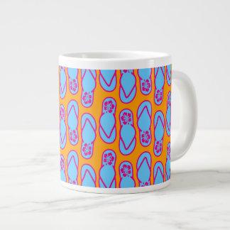 Hawaiian Flip Flops in Blue & Orange Jumbo Mug