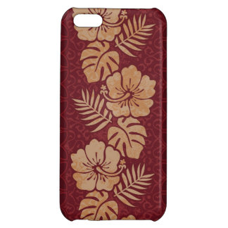 Hawaiian Floral Pattern Cover For iPhone 5C