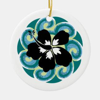 Hawaiian Flower Ceramic Ornament