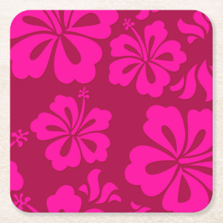 Hawaiian flower coaster