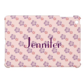 Hawaiian flower pink and purple case for the iPad mini