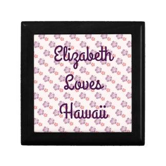 Hawaiian flower pink and purple gift box