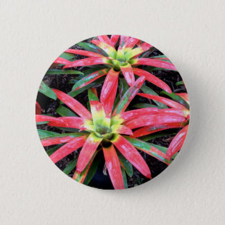 Hawaiian Flower Round Button