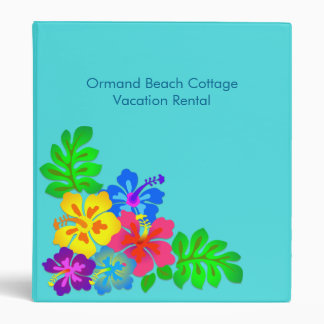 Hawaiian Flowers Beach Cottage Rental Binder