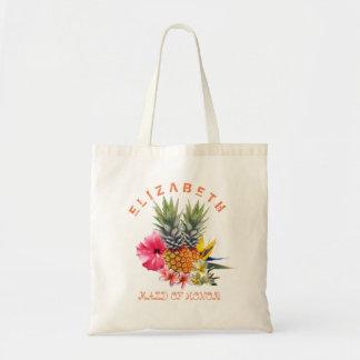 Hawaiian Flowers n Pineapples Bridesmaid